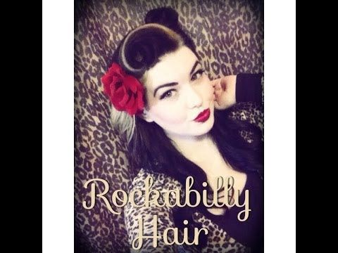 Cute Rockabilly Hair Tutorial All You Need: Hair Brush Teasing Brush Bobby Pins Hairspray Clip(section hair) Curling Iron Flower Clip(or some hair accessory)...