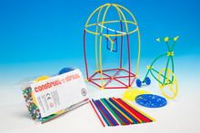 Straw construction set for creative play