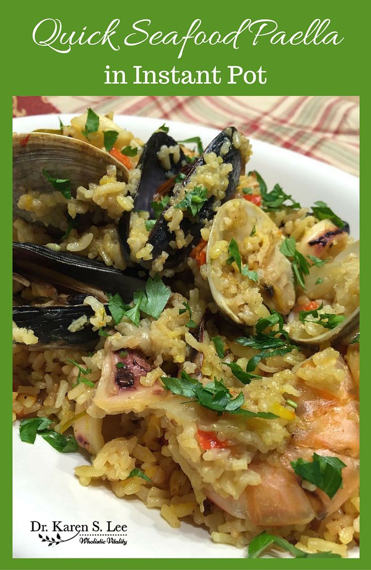 check out quick seafood paella recipe from hip pressure. Black Bedroom Furniture Sets. Home Design Ideas