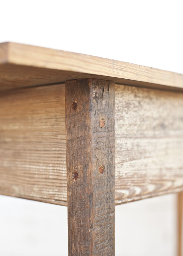 Furniture made from old reclaimed wood by Landrum Tables in Charleston SC  http//