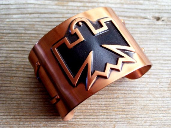 Copper Thunderbird Bracelet Tribal Copper Cuff by TheCopperCat