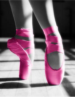 hot pink ballet shoes