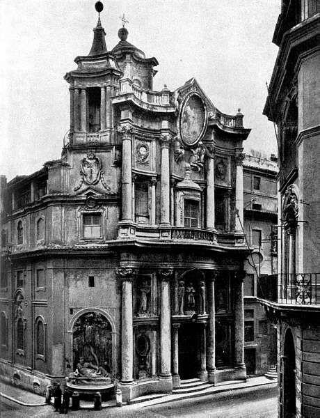Roma, the magnificent San Carlo alle Quattro Fontane.