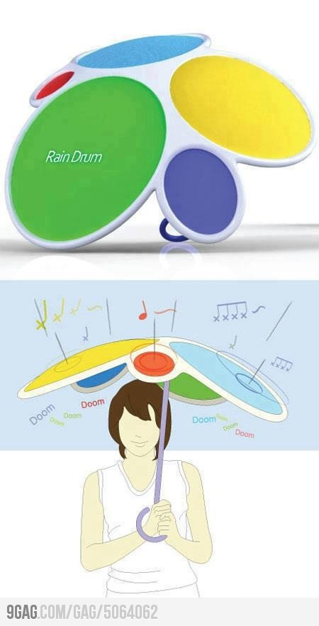 Musical Umbrella ♪ It may be annoying after a while, but it looks so cool!!