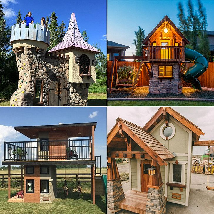 This Dad Makes Luxury Playhouses Straight Out of Every Kid's Wildest Dreams