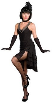 Dreamgirl Sophisticated Lady Adult Black Flapper Costume - Candy Apple Costumes