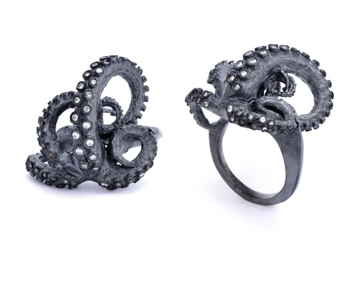 If It's Hip, It's Here: Tentacles, Fungi & Anatomy Cast In Fine Metals. The Very Cool Jewelry of Peggy Skemp.