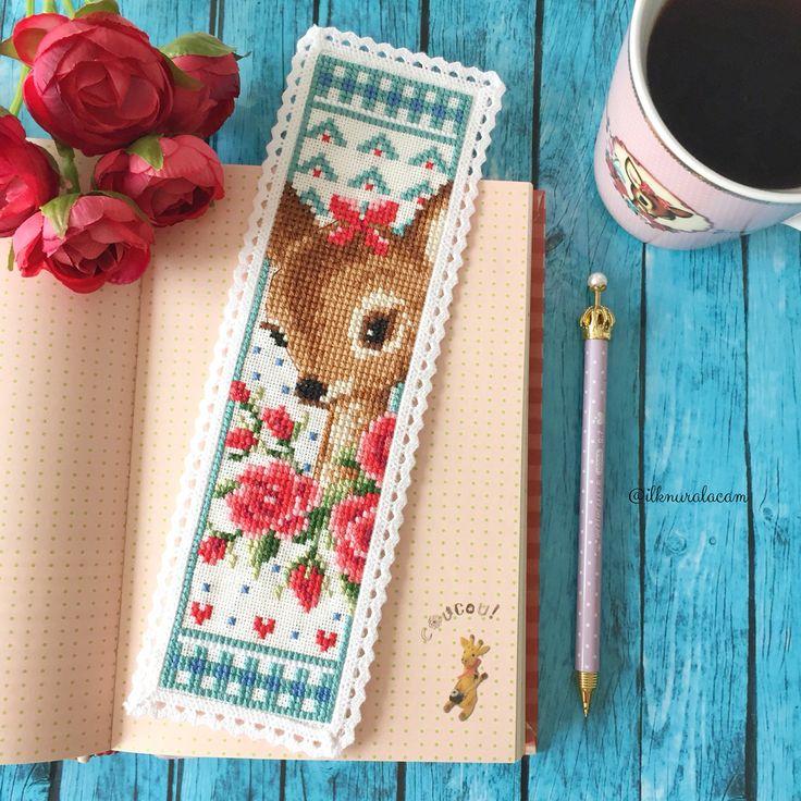 Cross stitch bambi bookmark                                                                                                                                                     More