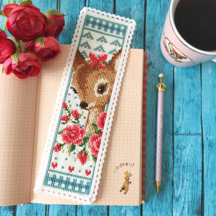 Cross stitch bambi bookmark                                                                                                                                                     More