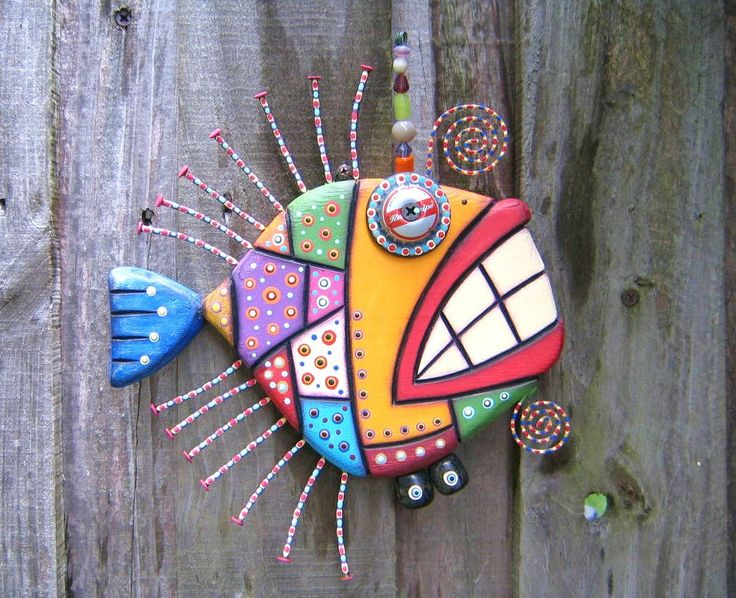 Mosaic Fish, MADE to ORDER, Original Found Object Sculpture, Wall Art, Wood Carving, Wall Decor, by Fig Jam Studio by FigJamStudio on Etsy https://www.etsy.com/listing/211181977/mosaic-fish-made-to-order-original-found