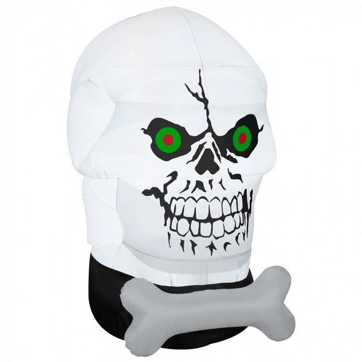 Halloween Inflatables  Air blown Gotham Skull Inflatable Yard Decorations New