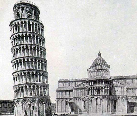 Leaning Tower Pisa, Italy Romanesque Architecture 1890 Victorian Era Rotogravure Illustration to Frame
