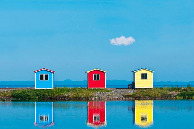 Newfoundland, Canada. Love the primary colours
