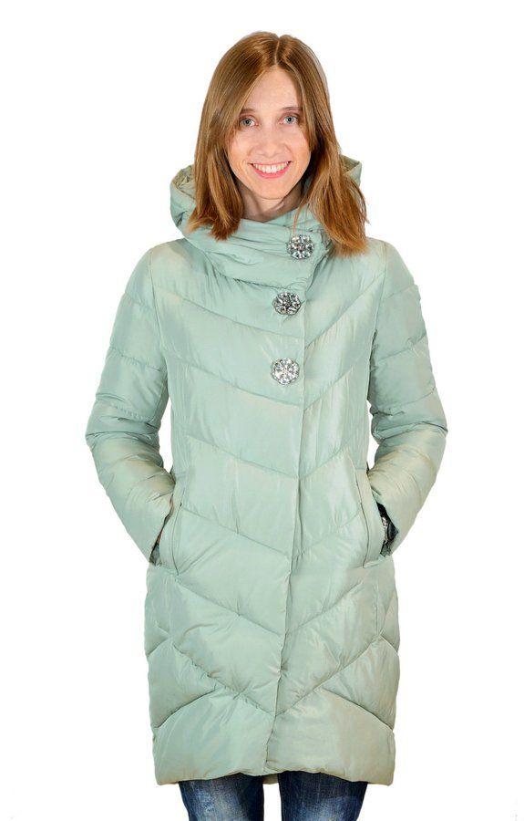 Женское пальто-кокон на био-пуху ATHENA 6662