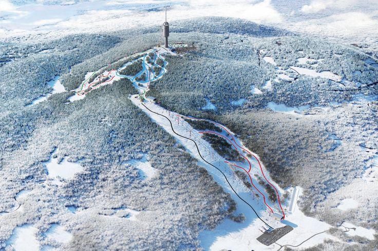 Aerial Landscape shot | Tryvann Vinterpark | Oslo Snow Parks