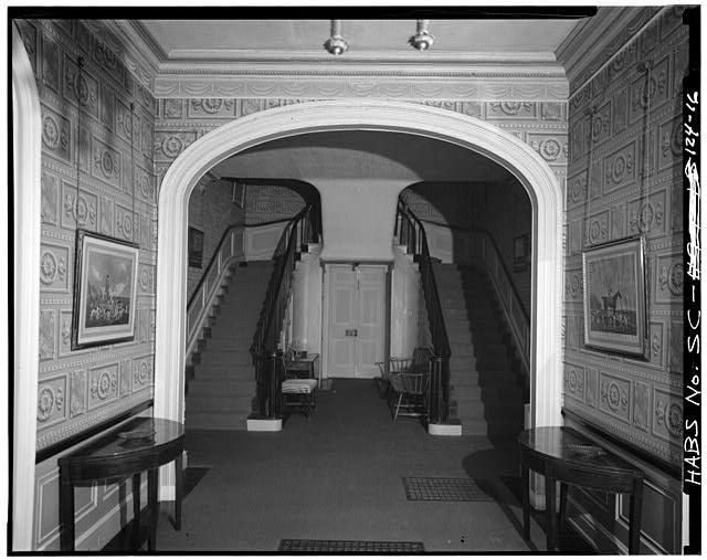 unique double stairway of the william seabrook house