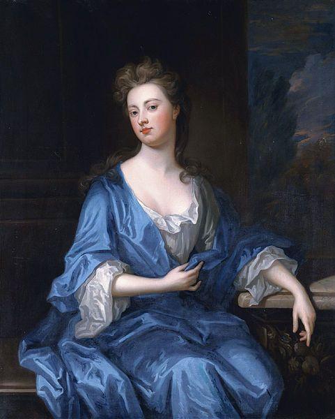 The Duchess of Marlborough, attributed to Sir Godfrey Kneller.: Plain White, Sir Godfrey, British History, The Duchess, Sky Blue, Godfrey Kneller, Blue Satin, Sarah Churchill, The Dress