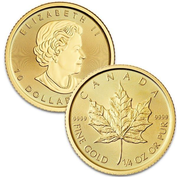 1 4 Oz Canadian Gold Maple Leaf 9999 Pure Gold Coins Money Metals Gold Coins Money Canadian Gold Coins Gold Coin Price