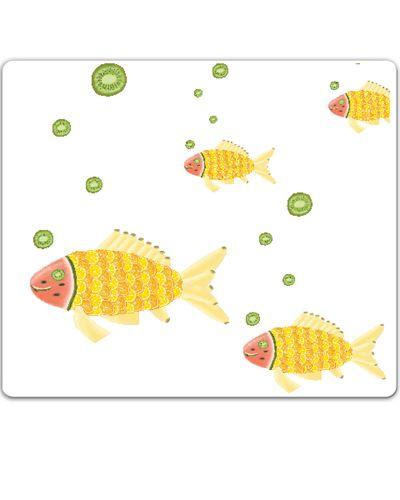meyve şöleni - balık / the fruit feast - the fish / mouse pad / orange / lemon / kiwi / pear / banana / watermelon