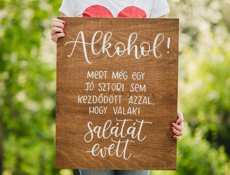 Dekortábla esküvőre #woodsign #alkohol