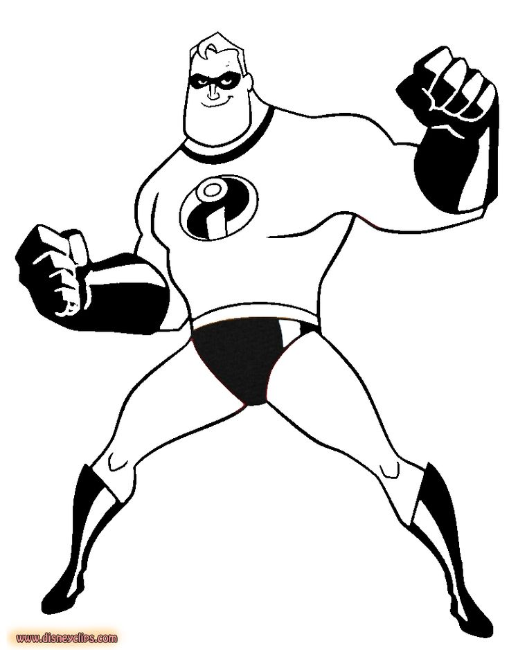 Disney Pixar The Incredibles Printable Coloring Pages