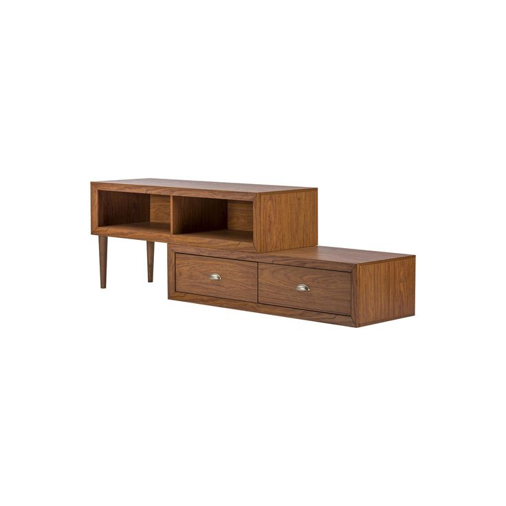 Bainbridge Wood Contemporary TV Stand Walnut 70 - Baxton Studio, Brown