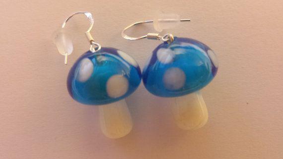 Spellbinding Toadstool Earrings made of Sterling by Petriberry