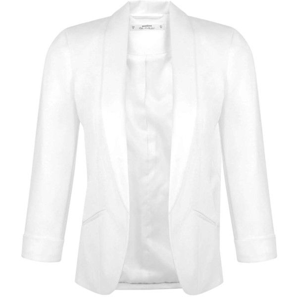 Miss Selfridge Petites Ivory Blazer Jacket ($26) ❤ liked on Polyvore featuring outerwear, jackets, blazers, ivory, petite, blazers jersey, miss selfridge, white blazer jacket, white blazer and ivory blazer