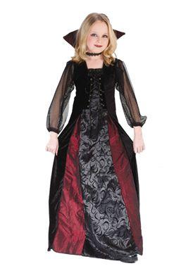 Girls Vampire Costume - Gothic Maiden Vampiress