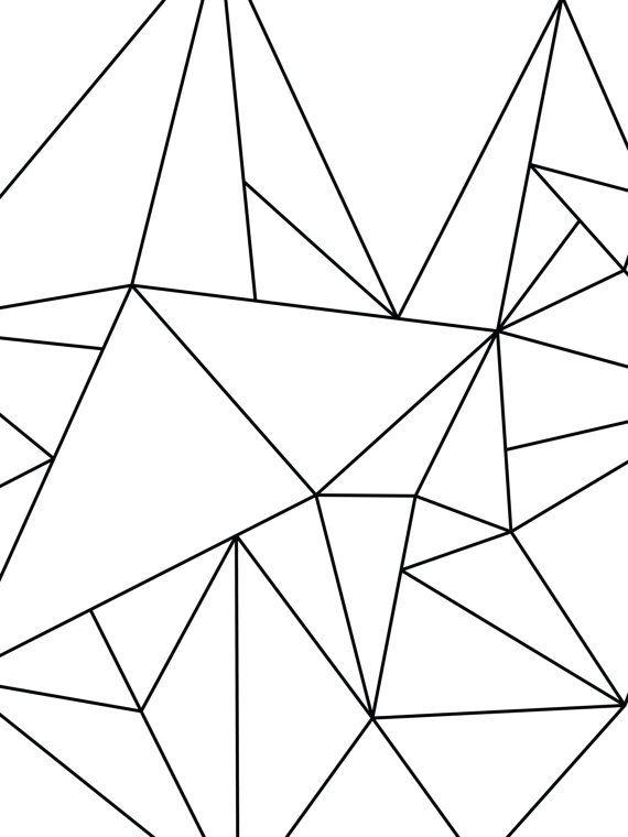 Geometric Art Black and White Minimalist Art por MelindaWoodDesigns