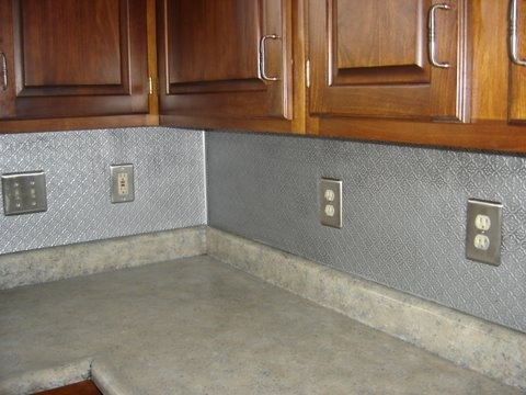 PVC Backsplash Roll #WC20 Stainless Steel (1 1/4