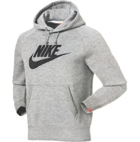 The Nike® Men's AW77 Futura Logo Hoodie is at the top of the list for soft, durable comfort. This pullover sweatshirt is constructed of a tough, yet super-soft French terry fabric and a brushed interior for warmth, comfort and durability all in one. Its classic design features the world-famous logo on the front and ribbed detailing at the cuffs and hem to help enhance your fit. Don't go without the AW77 Sweatshirt this season.