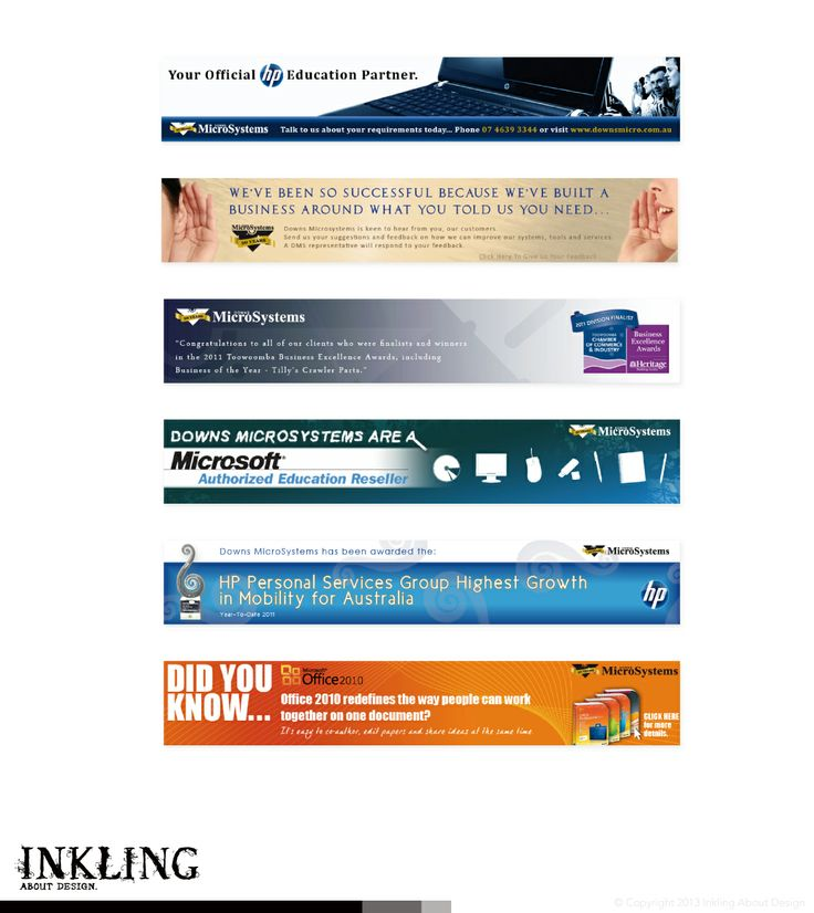 web banners for DOWNS MICROSYSTEMS by Inkling About Design www.inklingaboutdesign.com  #graphicdesign #inkling #webbanners #branding #Toowoomba #Queensland #downsmicrosystems #ict #technology #computer #email