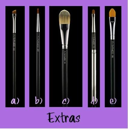 A:rellenar cejas b:eyeliner C:sombras y contornos D:labial E:sombras