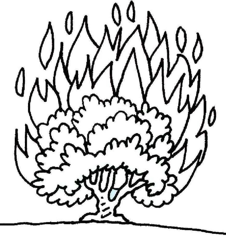 Burning Bush Coloring Page | Printable Coloring Pages ...
