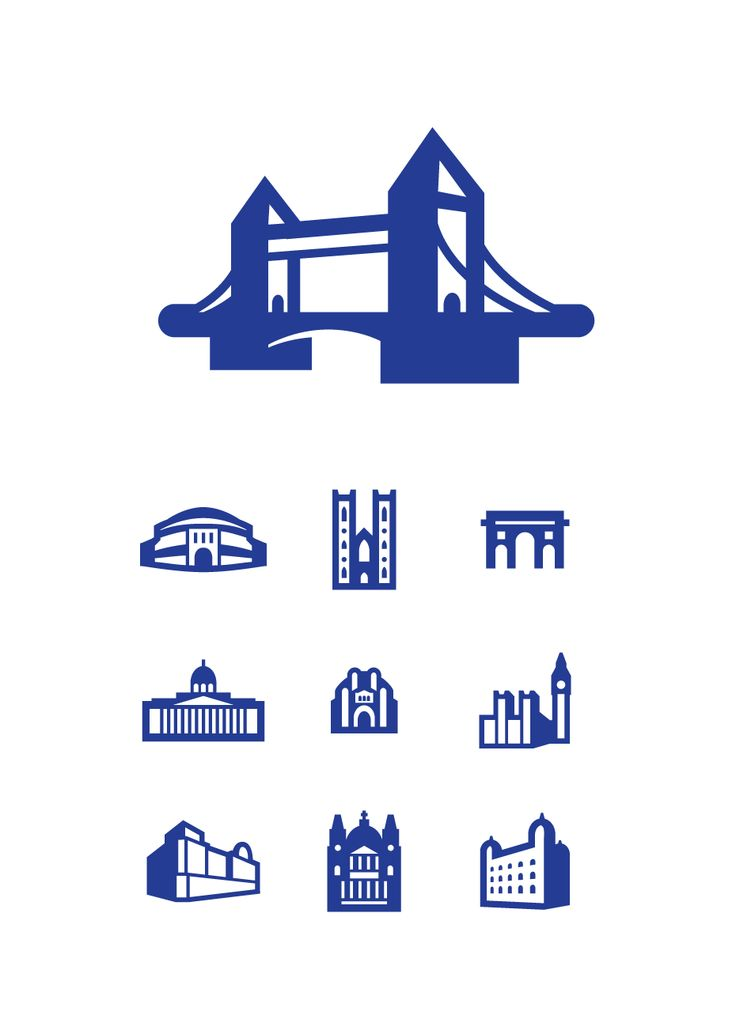 Icons for American Airlines travel maps  by Ben Barry