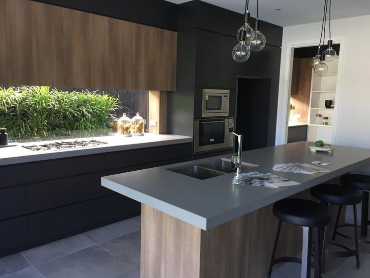 Grey Concrete Texture Bench Top - Kitchens Renovations Brisbane