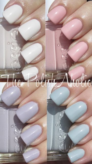 Pretty cool spring collection from Essie... Yesterday, at the nail spa I couldn't help to notice these pastel colors... they are perfect for the season! I absolutely love it!!!