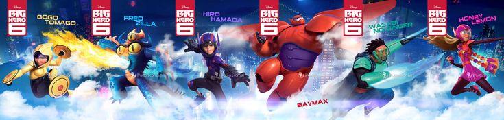 Disney's Big Hero 6 posters assembled