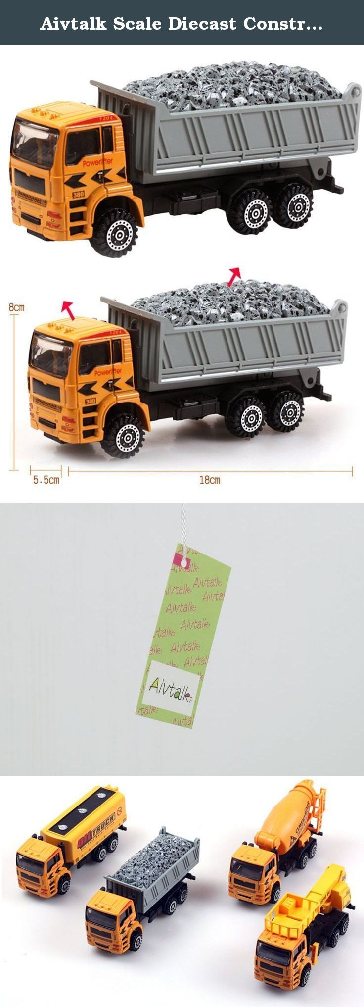 Aivtalk Scale Diecast Construction Vehicle Transport Car Carrier Truck Toy Model Cars for Boys. Features: Super cool gift for kids Completely non-toxic, safe for children Designed with realistic features in a smaller scale Specifications: Material: Metal & Plastic Scale:1:50 For Ages: 3 years and up Dimensions: approx. 18*8*5.5cm Color:As picture Package includes: 1 * Toy truck.