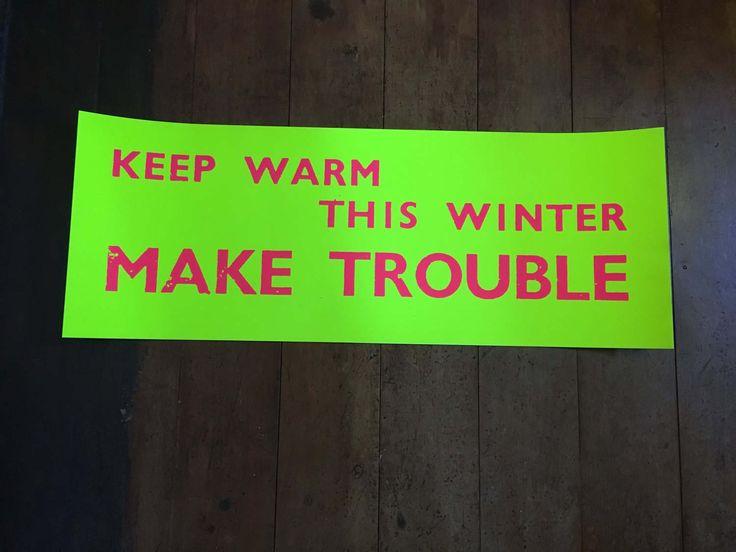 Jamie Reid Keep Warm Make T......! Rare Original Blacklight Poster by RockPostersTreasures on Etsy