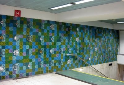 Maria Keil - Rossio Metro station - Lisbon