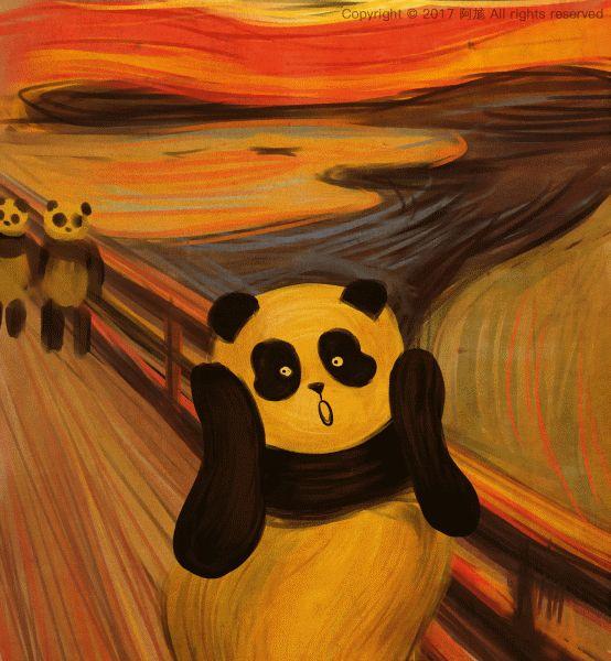 Elle remplace les modèles des peintures célèbres... par des pandas