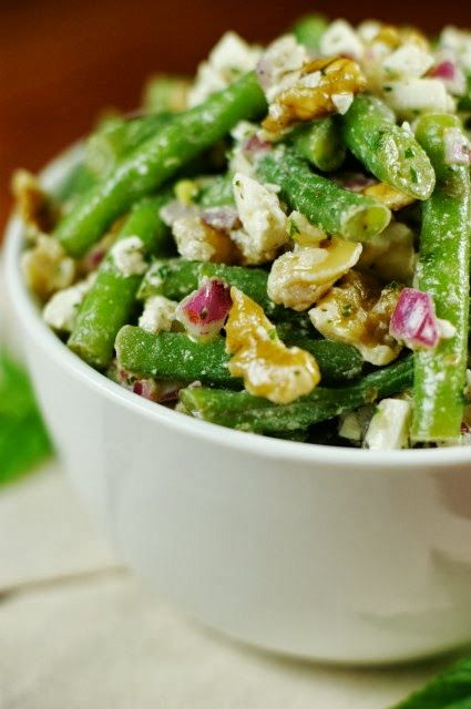 Green Bean, Walnut, & Feta Salad from The Kitchen is My Playground. Made this and loved it!