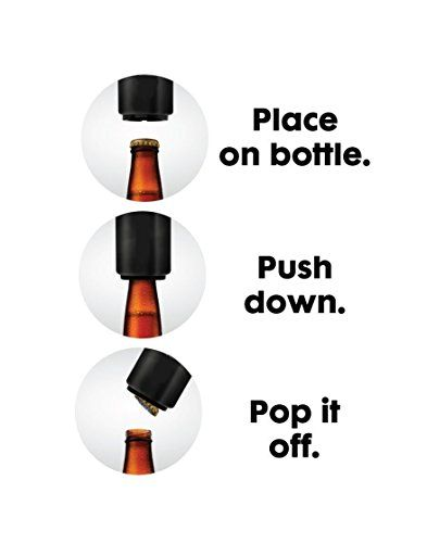 HQY Automatic Beer Bottle Opener with Magnetic Cap Catcher,6 Pack  ◆HQY Automatic Beer Bottle Opener with Magnetic Cap Catcher,6 Pack    ◆Checkout some of the amazing features of the Bartender Bottle Opener:    ◆-Super-fast, Easy to Use and Portable    ◆-Better than wall mounted bottle opener    ◆-Opens Beer and Soda Glass Bottles Instantly    ◆-Magnetic Cap Catcher within the Bottle Opener    ◆-High-Quality and Durable    ◆-Great for Cap Collectors    ◆-Won't Bend Caps. Cap can be r..