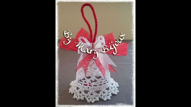 Campana uncinetto/Crocheted Christmas Bell with English surtitles