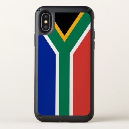 Speck Presidio iPhone X Case South Africa flag - diy cyo customize create your own #personalize