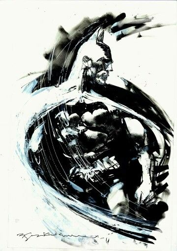 Realistic to abstract - Batman by Bill Sienkiewicz