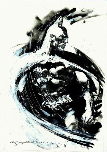 Realistic to abstract - Batman by Bill Sienkiewicz