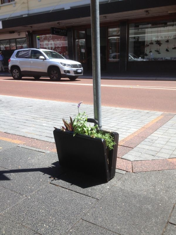Lose your briefcase?   Market St, Fremantle
